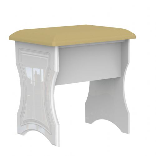 Balmoral White Gloss Stool